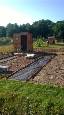 The new Kings Hill allotments on the day they opened